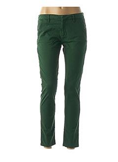 Pantalon casual vert REIKO pour femme