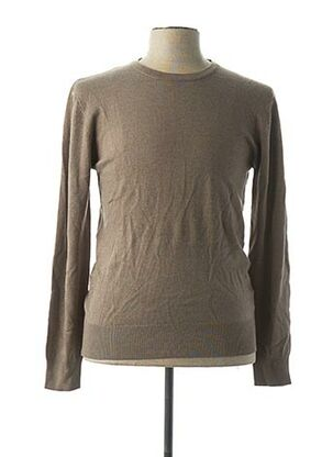 Pull col rond beige TONY MORO pour homme