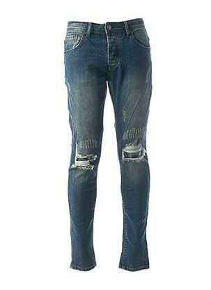 Jeans coupe slim bleu AARHON pour homme