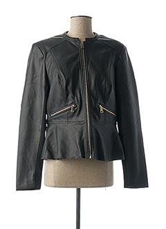 Veste simili cuir noir BRANDTEX pour femme