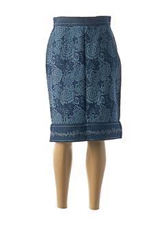 Jupe mi-longue bleu JAC JAC pour femme