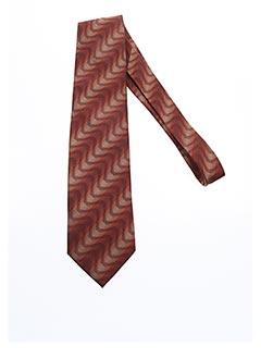 Cravate marron DANIEL VALENTE pour homme