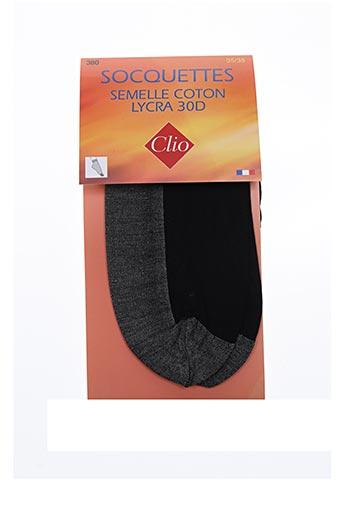 Chaussettes noir CLIO pour femme
