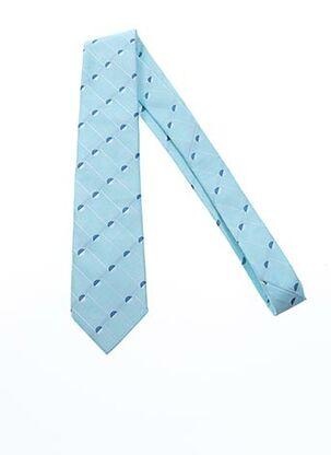 Cravate bleu DANIEL VALENTE pour homme