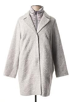 Manteau long gris WHITE LABEL pour femme