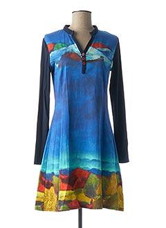 Robe courte bleu AVENTURES DES TOILES pour femme