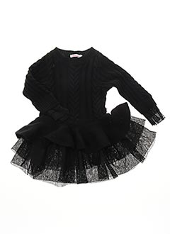 Robe mi-longue noir BILLIEBLUSH pour fille