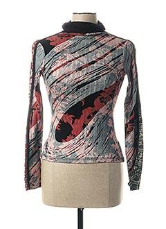 T-shirt manches longues gris CUSTO pour femme