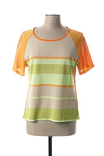 T-shirt manches courtes vert CHASSAGNARD pour femme