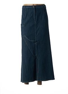 Jupe longue bleu BLEU DE SYM pour femme