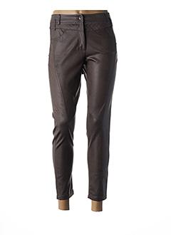 Pantalon 7/8 marron EVAK pour femme