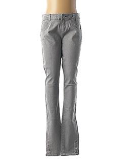 Jeans coupe slim gris CARREMENT BEAU pour fille