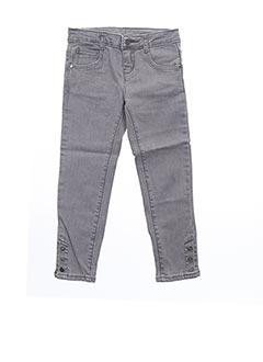 Jeans skinny gris CARREMENT BEAU pour fille