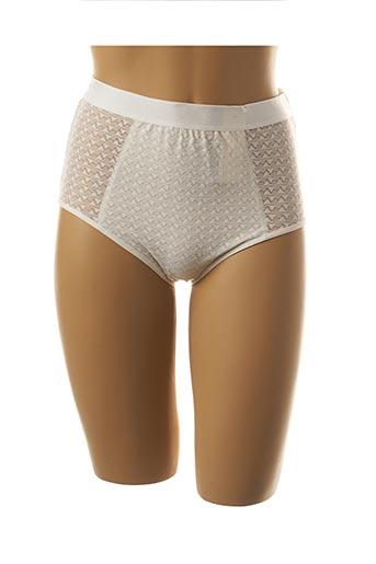 Culotte gainante blanc GEMMA pour femme