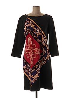 Robe mi-longue noir EDAS pour femme