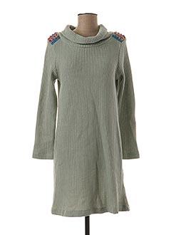 Robe pull vert LO! LES FILLES pour femme