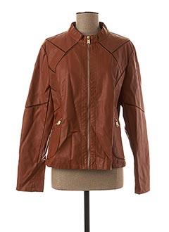 Veste simili cuir marron EDAS pour femme