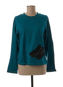 T-shirt manches longues bleu JAC JAC pour femme