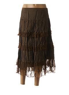 Jupe longue marron JAC JAC pour femme