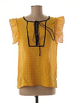 Blouse manches courtes jaune AN' GE pour femme