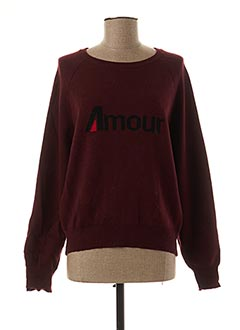 Pull col rond rouge AN' GE pour femme