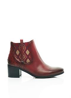 Bottines/Boots rouge FUGITIVE BY FRANCESCO ROSSI pour femme