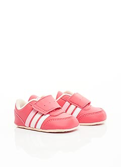Baskets rose ADIDAS pour fille