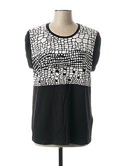 T-shirt manches courtes noir CAPUCCINO pour femme