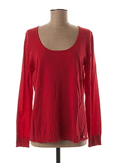 Pull col rond rouge DDP pour femme