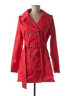 Imperméable/Trench rouge J&S pour femme