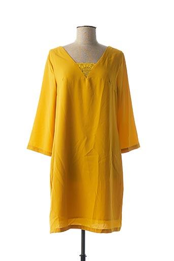 Robe mi-longue jaune EMMA & ELLA pour femme