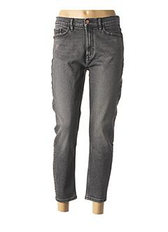Jeans coupe slim gris CALVIN KLEIN pour femme