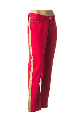 Pantalon casual rouge CALVIN KLEIN pour femme