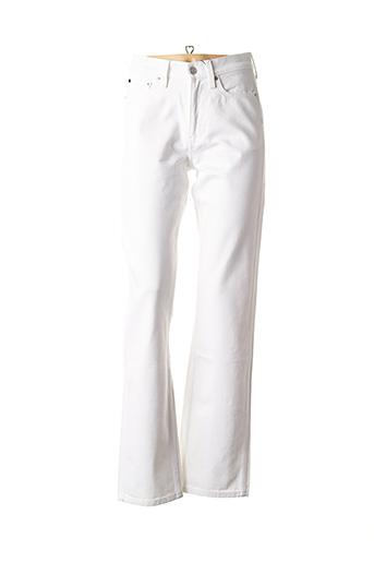 Jeans coupe droite blanc CALVIN KLEIN pour femme