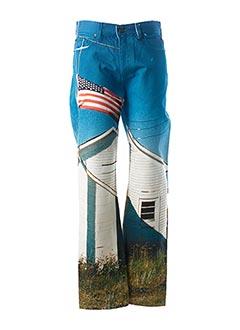 Pantalon casual bleu CALVIN KLEIN pour homme