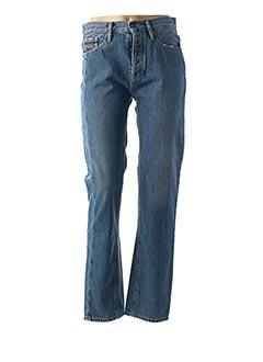 Jeans coupe droite bleu CALVIN KLEIN pour femme