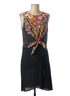 Robe mi-longue noir DESIGUAL pour femme