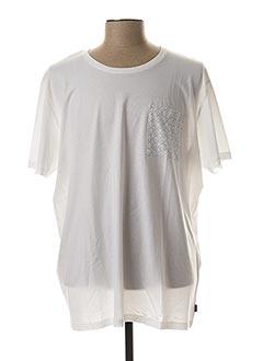 T-shirt manches courtes blanc EDC BY ESPRIT pour homme