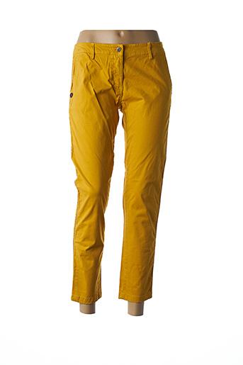 Pantalon casual jaune PAKO LITTO pour femme