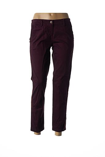 Pantalon casual violet PAKO LITTO pour femme