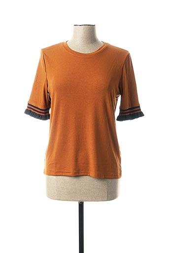 T-shirt manches courtes orange GRACE & MILA pour femme