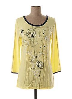 T-shirt manches longues jaune DOLCEZZA pour femme