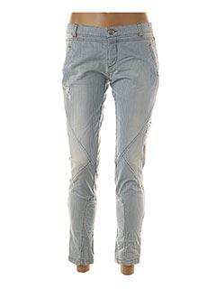 Pantalon 7/8 bleu ANINOTO pour femme