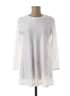 Tunique manches longues blanc GAIA BOLDETTI pour femme