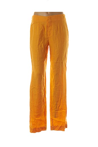 Pantalon casual jaune ANINOTO pour femme