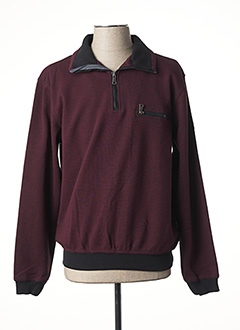 Sweat-shirt rouge HAJO pour homme