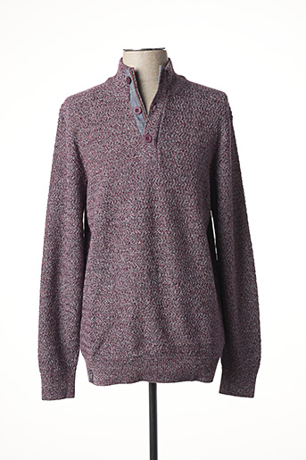 Pull col cheminée rouge FELLOWS pour homme