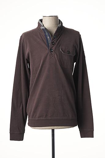 Sweat-shirt marron CALAMAR pour homme