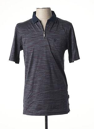 Polo manches courtes bleu HAJO pour homme