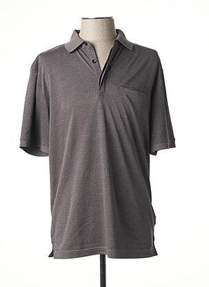 Polo manches courtes gris HAJO pour homme